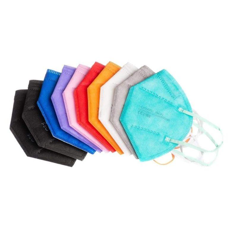 Mascherina colorata filtrante FFP2 NR vari colori